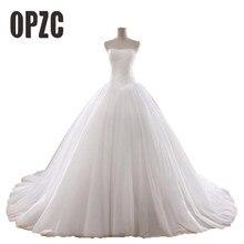 fb28b2d519 Gorąca sprzedaż 0.8 M sąd pociąg suknia ślubna 2016 tanie gwiazdy bez  ramiączek w stylu Vintage Tulle Bridal suknia balowa Organ.