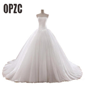 OPZC Wedding Dress Strapless Vintage Ball Gown Lace bridal fe05d53f0989