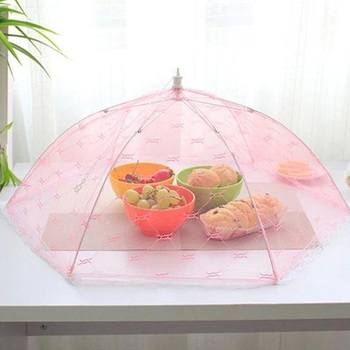 35/40cm Gauze Umbrella Food Cover Picnic Kitchen Anti Fly Mosquito Net Table Tent Meal Cover Table Mesh Food Cover Kitchen Tools 1