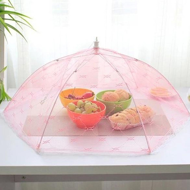 Gauze Umbrella Food Cover Picnic Kitchen Anti Fly Mosquito Net Table Tent Meal Cover Table Mesh & Gauze Umbrella Food Cover Picnic Kitchen Anti Fly Mosquito Net ...