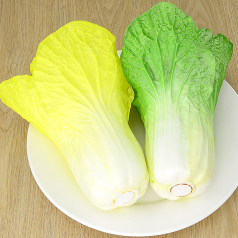 050 Simulation of Chinese cabbage fake vegetable simulation PU Chinese cabbage model fake fruit vegetable soft decoration in Artificial Foods Vegetables from Home Garden