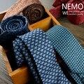 Tejido de Lana A Cuadros Corbata para Los Hombres 2017 Nueva Moda de Corea diseñador de la Cachemira Delgada Flaca Estrecha Corbata 6 cm Rojo Azul Café empate
