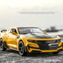 лучшая цена 1:32 Hot Alloy Diecast Car Models for Camaro Door Open Super Hornet Juguetes Cars Toys for children kids adult birthday gift