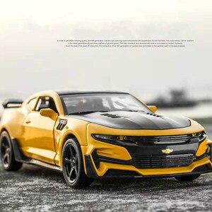Image 1 - 1:32 Hot Alloy Diecast Car Models for Camaro Door Open Super Hornet Juguetes Cars Toys for children kids adult birthday gift