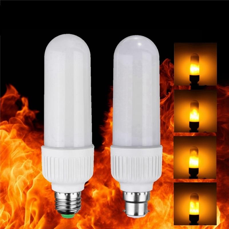 2835 99 leds LED Lampe E27 B22 5 Watt Lebendige Flamme Brennen ...