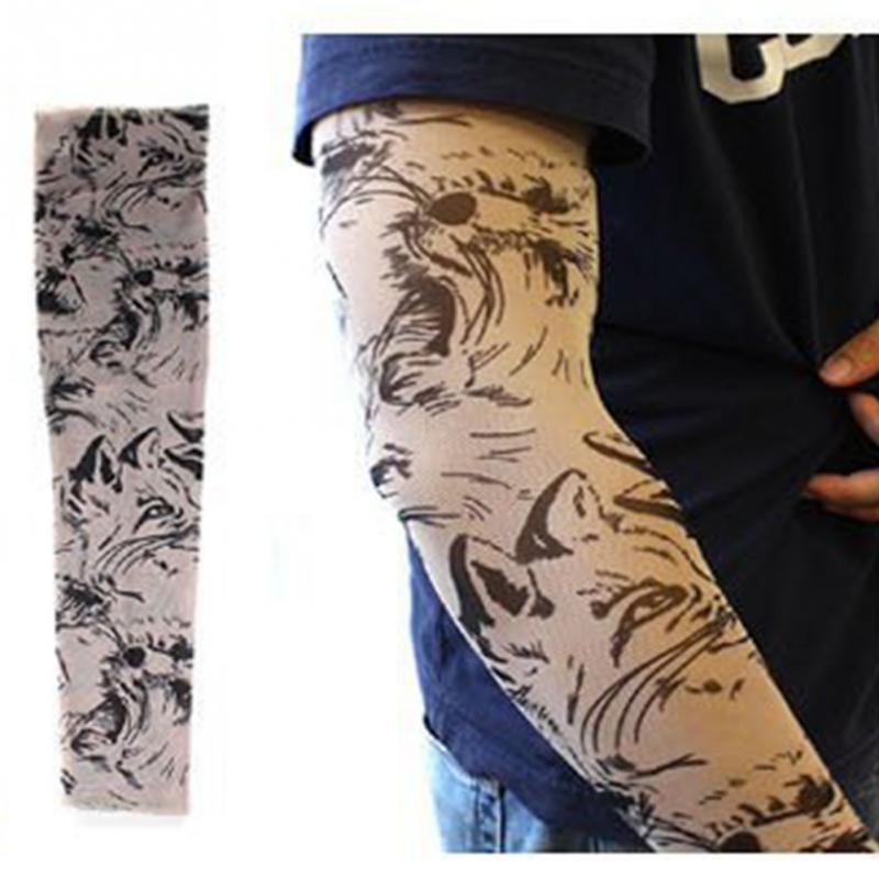 Men's Arm Warmers Apparel Accessories Punk Tattoo Sleeve Anti-sunshine Cool Fashion Men Women Tattoo High Elastic Halloween Party Dance Party Arm Leg Sleeves #8