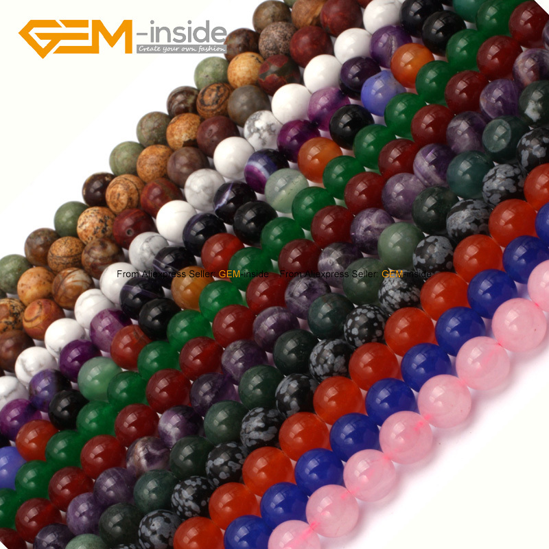 spacer product round loose jewelry wholesale beads natural gemstone pick