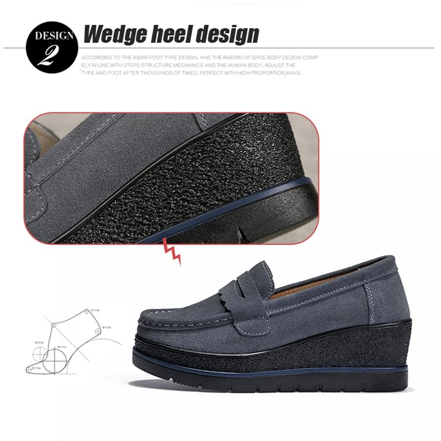 775 Navy Blue Zapatos La 775 En Mujer Zapatillas Gamuza Plataforma De Planos 2019 Cuero 775 Grey Creepers Green Resbalón Deporte Prendas 775 Primavera Black Gruesa Mujeres Las Suela fwWFWqR1