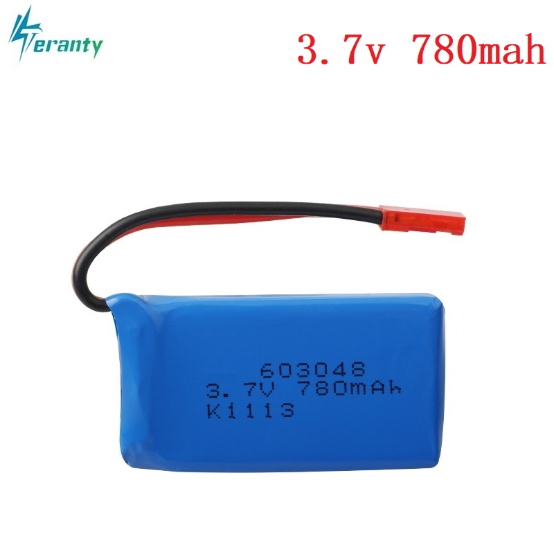 High Rate 3.7V 730mAH 25c Lipo Battery For WLtoys V626 V636 V686 quadrocopter Li-po battery 3.7V 730mAH 603048 Lipo battery 1pcs