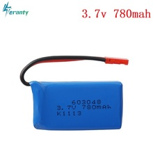 High Rate 3.7V 730mAH 25c Lipo Battery For WLtoys V626 V636 V686 quadrocopter Li-po battery 3.7V 730mAH 603048 Lipo battery 1pcs
