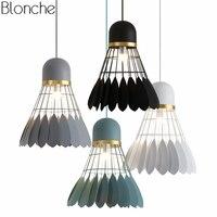 Moderne Badminton Anhänger Lichter Led Hangimg Lampe Macaron Lampenschirm für Küche Leuchte Hause Industrielle Dekor Leuchten-in Pendelleuchten aus Licht & Beleuchtung bei