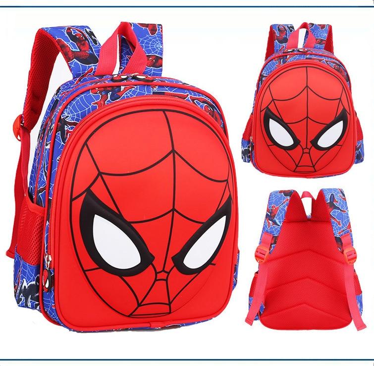 3D Spiderman Kids Primary School Backpack Boys Cartoon Spider Man Kindergarten Student Backpack Daypack Popular (4)