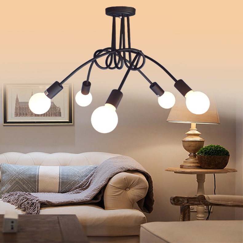 Vintage Ceiling Lights Ceiling Lighting Black Creative Personality Ceiling Lamps Fixtures Living