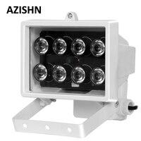 Conjunto de luces LED IR para cámara de seguridad CCTV, 8 Uds., iluminador infrarrojos, resistente al agua, visión nocturna de Metal, luz de relleno CCTV