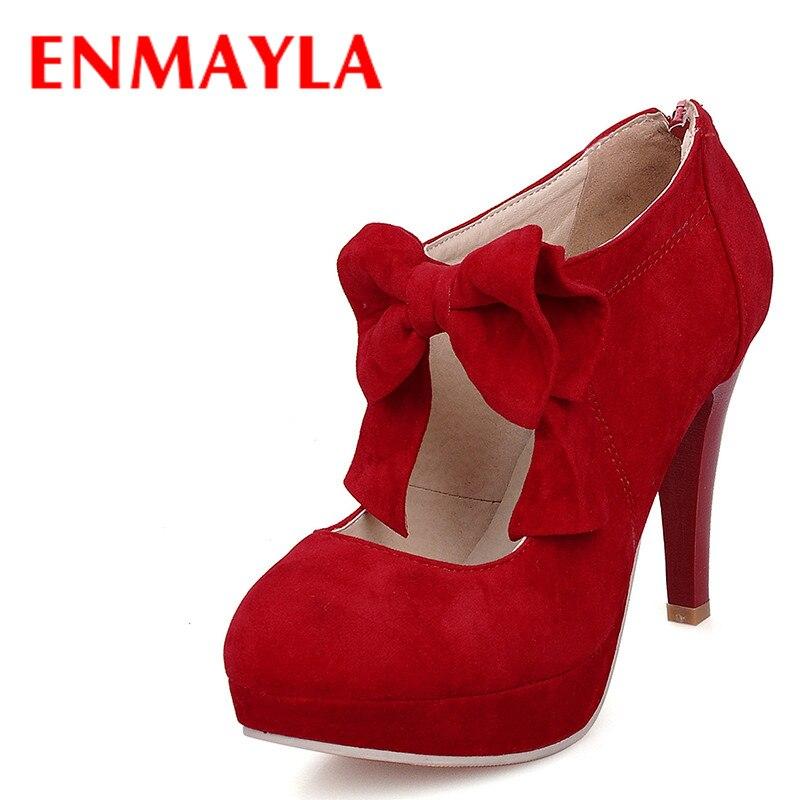 ENMAYLA plataforma primavera Flock Zapatos de tacón alto Mujer plataforma ENMAYLA d329fd