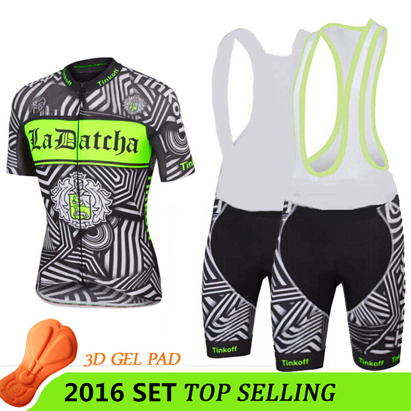 ФОТО ciclismo cycling jersey 2016 pro cycling team new black/fluo green ropa ciclismo 2016 men sportwear mtb summer style T-I-6501