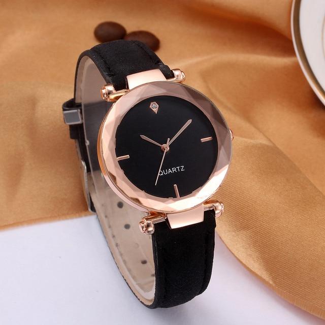 Watches Fashion Brand Leather Women Ladies Dress Quartz Wristwatch reloj mujer b