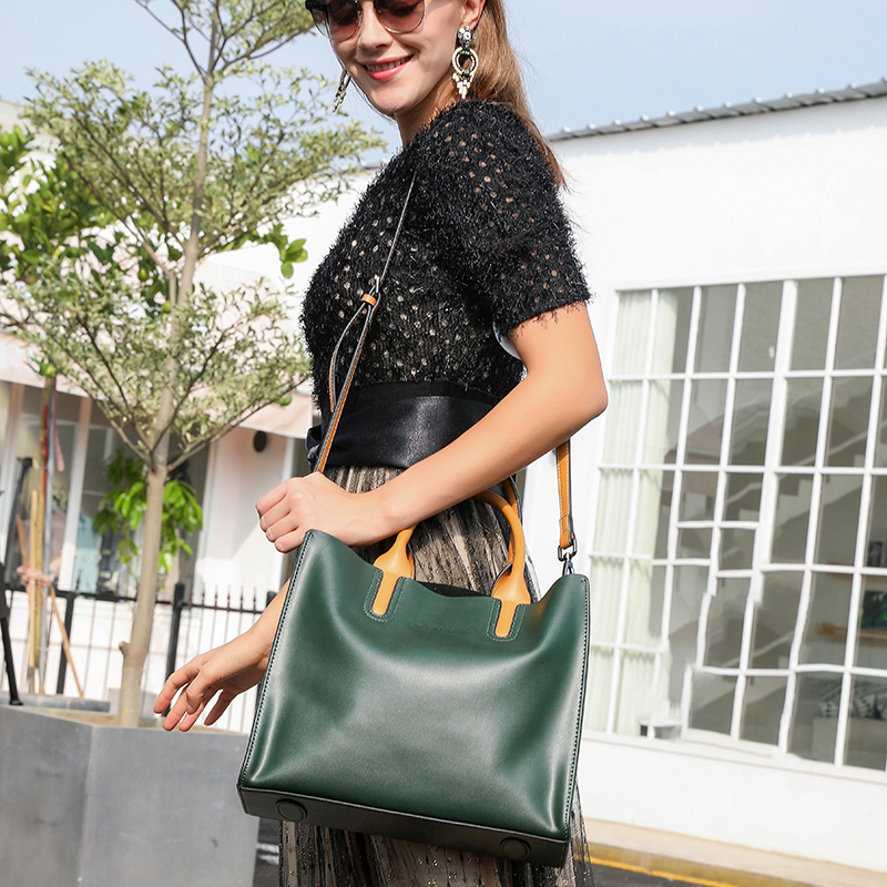 LY.SHARK Big Messenger Bag Women Shoulder Bag Female Bag Ladies Genuine Leather Bags For Women 2019 Women Handbags Green Black Lahore