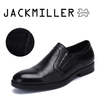 Jackmiller Men's Dress Shoes Winter Warm Office Men Shoes High Quality Wool Lining Luxury Black Color Big Sizes 39-45 CowLeather