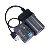 CONENSET 2Pcs EN EL3 EN EL3a EN EL3e Rechargeable Li Ion Battery 1 USB Charger For
