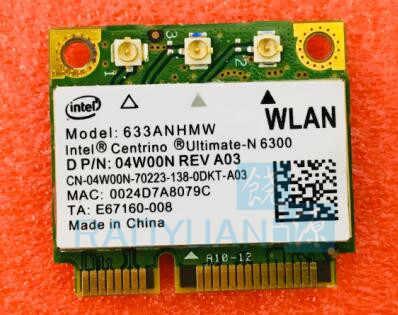 For Intel 6300 633ANHMW 6300AN Centrino Ultimate N 6300 FRU 60Y3233