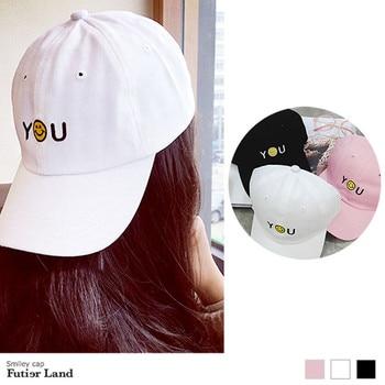 19 tipos de selección gorra sonriente Bordado de letras gorra de béisbol mujeres lindo sombrero hombres sombreros de sol