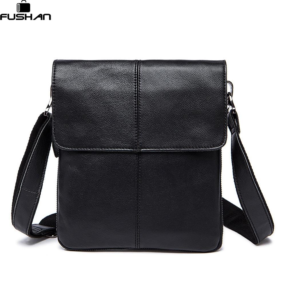 ФОТО Luxury 100% Genuine Leather Men's Bag Cowhide Skin Shoulder Bag Briefcase high quality men messenger bags Designer crossbody bag