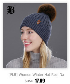 [FLB] Wholesale Real Mink Fur Pom Poms Knitted Hat Ball Beanies Winter Hat For Women Girl 'S Wool Hat Cotton Skullies Female Cap 48