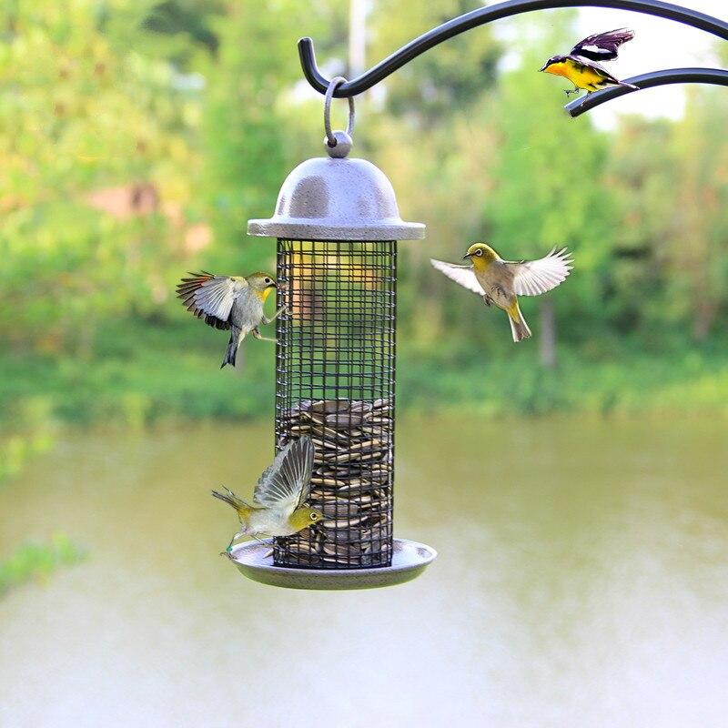 Mangeoire pour oiseaux balcon extérieur jardin mangeoire pour oiseaux pigeon perroquet oiseau nourriture conteneur suspendu oiseau ZP4011538