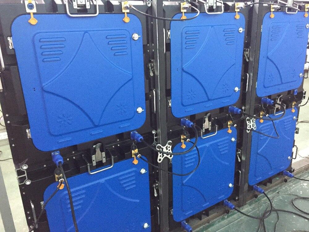 6 unids P6 a todo color al aire libre SMD 1/8 escanear contra salpicaduras y bandeja para viruta, lámina de acero 576mm para 576mm de fundición de aluminio de gabinete de tarjeta de Control de vuelo caso y colgante rayo