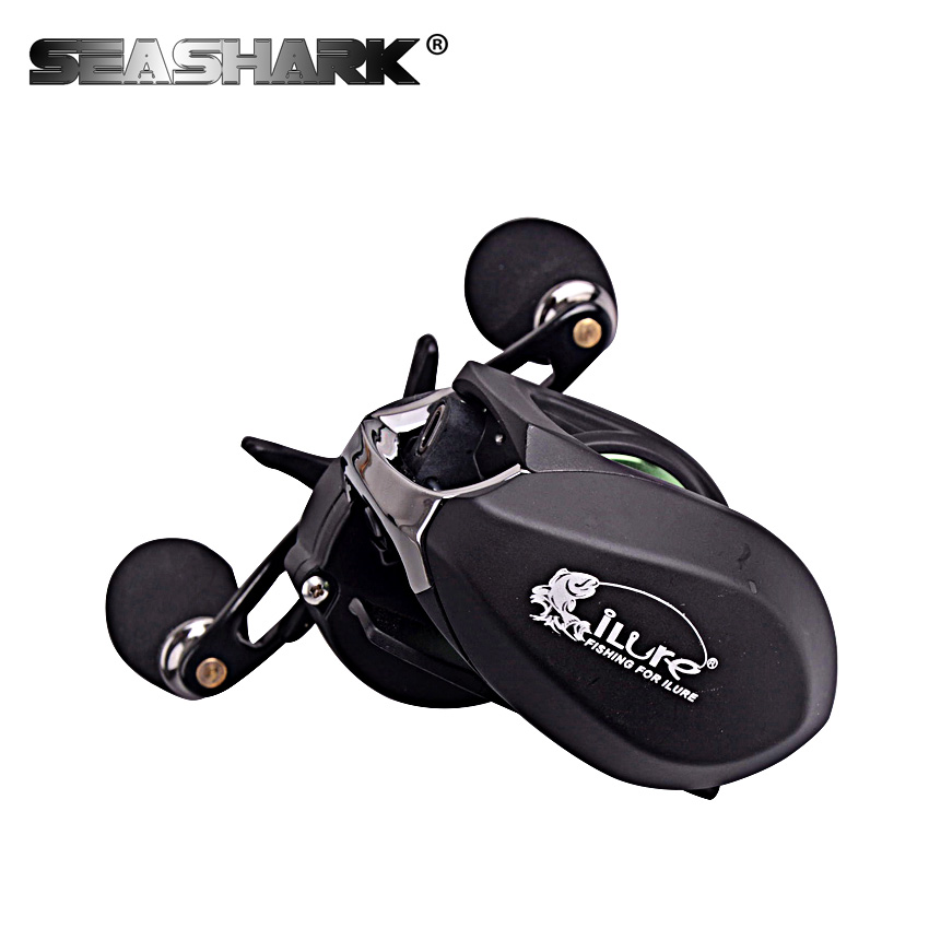 SEASHARK Ultralight Body Bait Casting Reel Fishing Reel 6.4:1 Gear Ratio 9+1 Ball Bearings Max force 8kg Baitcasting Reel free shipping by ems fishing reels baitcasting reel daiwa megaforce ths gear ratio 7 3 1 six ball bearings right