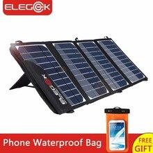 Elegeek 22 Вт 5 В Портативный Панели солнечные Зарядное устройство двойной складной USB Панели солнечные с регулируемой подставкой и сумка для хранения smart телефон
