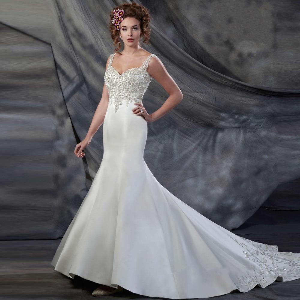 Crystal Bodice Wedding Gown: Buy Bridal Online Luxurious Mermaid Wedding Dress With