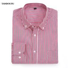 YANDOUTU 2018 Brand 100 Cotton Solid Striped Shirt Formal Casual Male Dress Shirt Long Sleeved Men