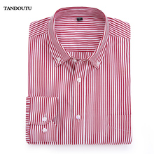 YANDOUTU 2018 Brand 100% Cotton Solid Striped Shirt Formal Casual Male Dress Shirt Long Sleeved Men Fashion Business Shirt