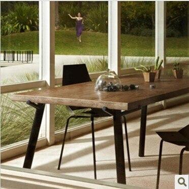 Nuevo diseñador francés de madera maciza muebles mesa de comedor de ...