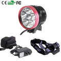 8000Lm 6x CREE XM-L T6  Waterproof  Bike Front Light  LED HeadLamp Camping +6400mAh 8.4v battery+Charger