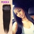 Barato lace closure reta tamanho 4x4 indiano virgem cabelo closures oriente parte 3 cabelo humano pedaço fechamento reta clousure cabelo
