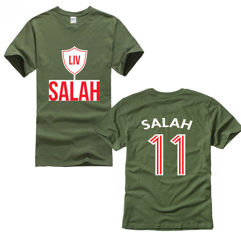 cheap for discount dcec5 7540a US $11.99 25% OFF|europe games cup Salah Liverpool soccering T Shirt player  of men No.11 Mo Unofficial Men And Woman T Shirt Free Shipping 2018-in ...