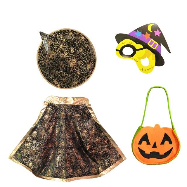 Halloween Pak.Halloween Pak Cosplay Kostuum Jongen En Meisje Kostuums Mantel Heks Hoed Blinder Reticule