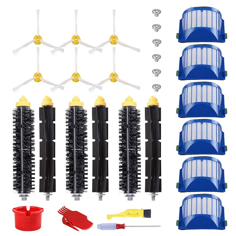 4 X iRobot Roomba 500 600 700 Series Brush Kit Debris extractors 650 760 770 780