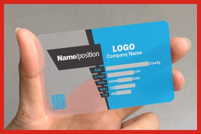 PVC Transparent Impression De Carte Nom