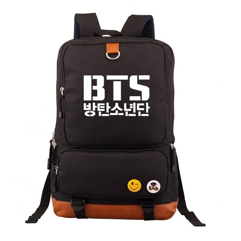 все цены на Bangtan Boys BTS Korean Backpack Knapsack Mochila Fans Backpacks Teenagers Men Women's Student School Bags Travel Laptop bag онлайн