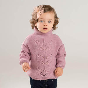 Image 2 - DB8972 dave bella autumn knitted sweater infant baby girls long sleeve pullover kids toddler tops children knitted sweater