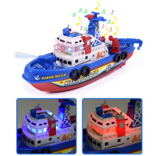 Детский Электрический высокоскоростной музыкальный светильник, лодка, морская спасательная модель, пожарная лодка, игрушки для мальчиков, распылитель воды, пожарная лодка, обучающая игрушка