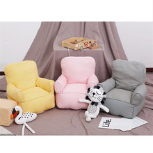 INS kids Sofa Chair Cotton Canvas Mini Sofa Chair Seat PP Cotton Padding Foam Particles Kids Chair Kindergarten Early Education kids small sofa household lovely thicken kids chair washable mini lazy sofa stable cartoon toy seat soft sponge sofa easy clean