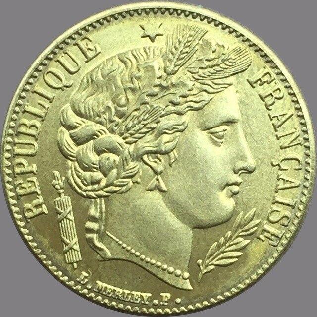 France 1850 A 20 Francs Gold Coins Br Metal Copy