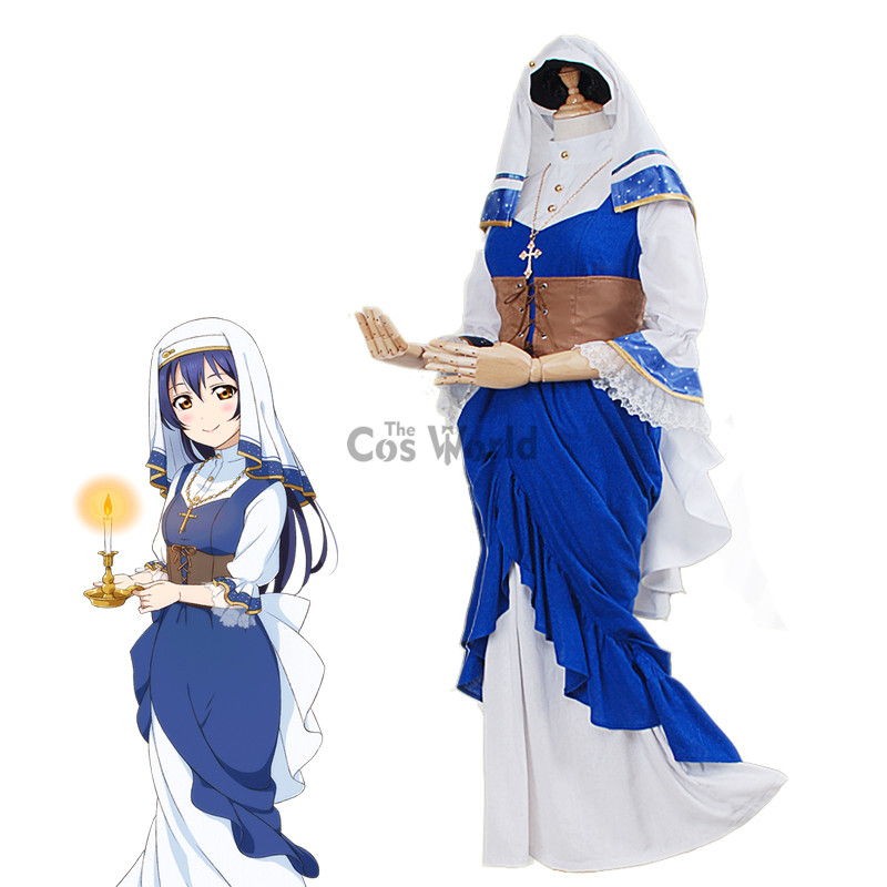 impactful anime nun outfit full
