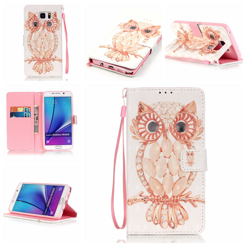 Leather PU Wallet Phone Case For samsung galaxy note 5 Case Flip Capa For Coque samsung note 5 Cover + With Card Holder Stand