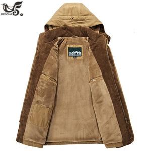 Image 4 - Giacca invernale da uomo di marca taglia 5XL 6XL giacca a vento spessa calda in pile di alta qualità parka imbottito in cotone abbigliamento soprabito militare